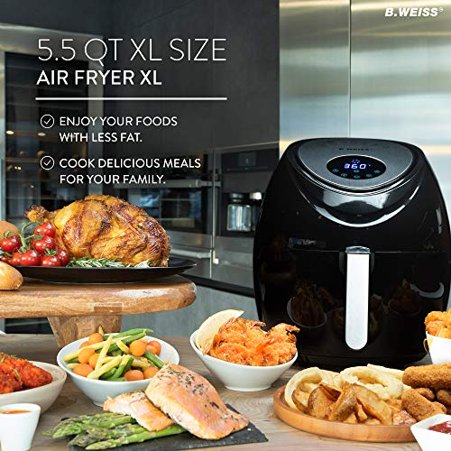 Power air fryer oven reviews - 5.5 QT Air Fryer XL Size