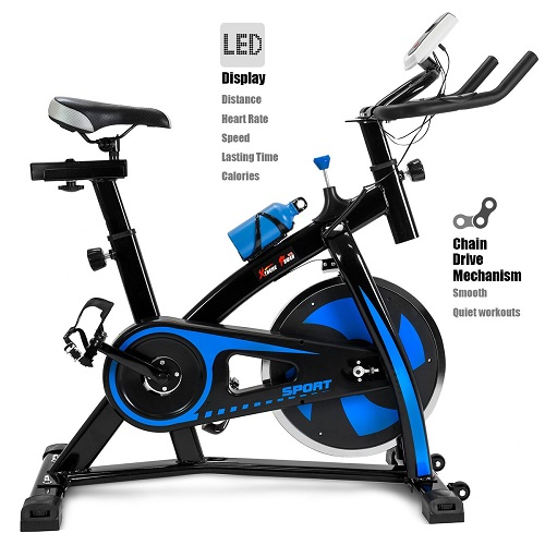 Best overall exercise equipment for home - XtremepowerUS Indoor Cycle Trainer