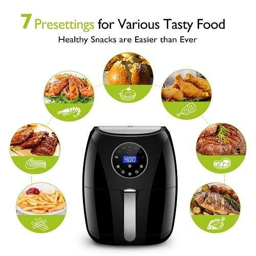 Habor Digital Air Fryer with LCD Touchscreen