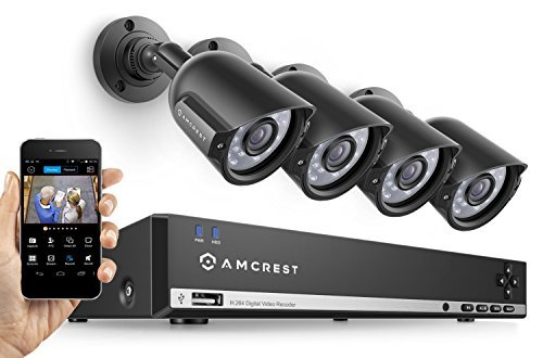 Best Outdoor Wireless Security Camera System with DVR - Amcrest UltraHD 4-Megapixel 4CH Video Security System