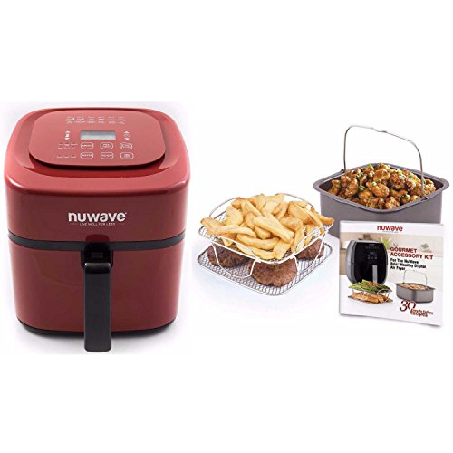 NuWave Air Fryer Reviews - NuWave Brio 6 Qt. Fryer-Red with Gourmet Accessory Kit