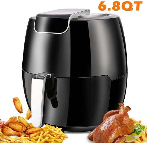 Yesparn 6.8Qt Fast Cook Electric Hot Air Fryer