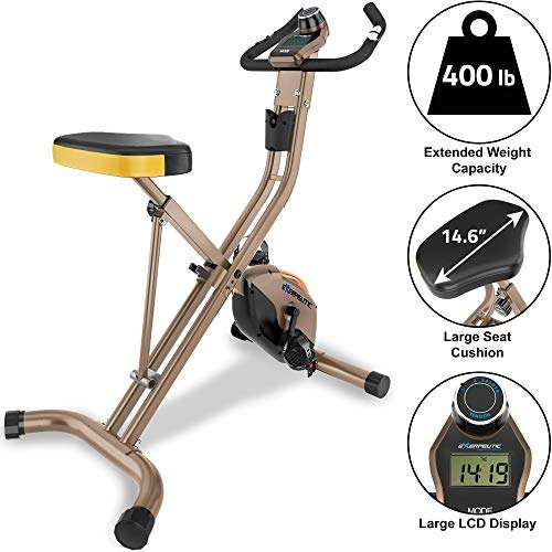 Exerpeutic Gold Foldable Upright Bike