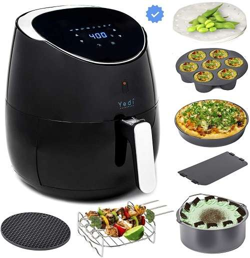 Yedi Total Package Ceramic Air Fryer XL, 5.8 Quart