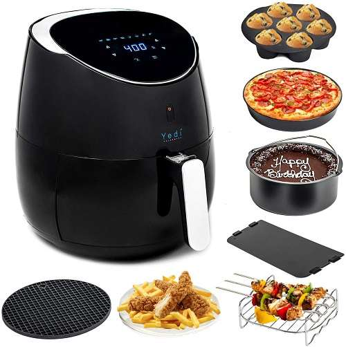 Yedi Total Package XL Air Fryer, Healthy Air Crisper Oiless Oven