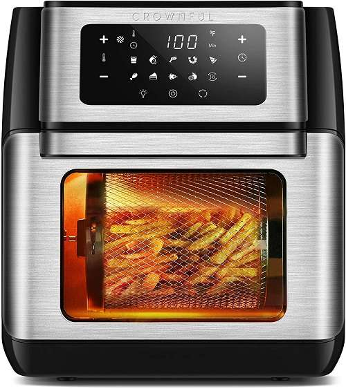 Crownful 10-in-1 Air Fryer Toaster Oven